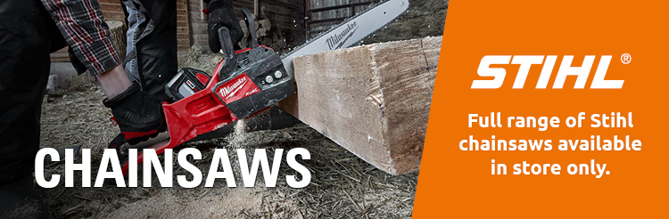Chainsaws from Milwaukee and Stihl