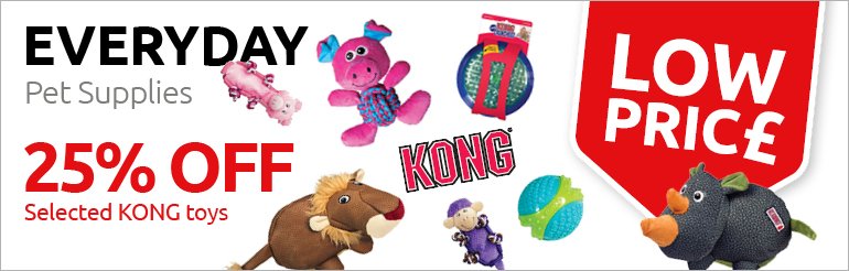 25% Off Selected Kong Dog Toys - Whilst Stocks Last