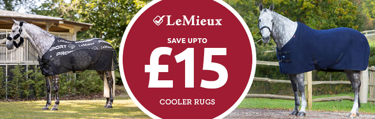 Selected LeMieux Cooler Rugs - Save up to £15.00 whilst stocks last!