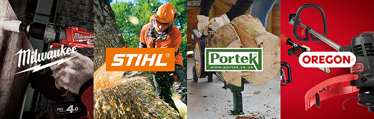 Milwaukee, Stihl, Portek and Oregon Tools