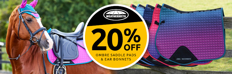 20% Off Weatherbeeta Ombre Saddle Pads and Fly Bonnets